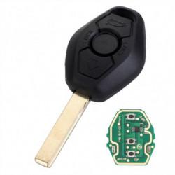 Pcf7935aa Chip 433mhz Fjern Bil Nøgle 3 Knap Fob Transmitter Nøgle Skal Sag Til Bmw X3 X5 3 Serie D25