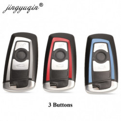 Jinyuqin Smart Nøgle Skal Dække Over Fjern Keyless Sag Til Bmw Cas4 F 3 5 7 Serie E90 E92 E93 X5 Hu100r Med Uncut