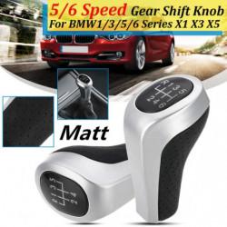 5 6 Hastighed Gear Flytte Knop Pind Matt Gloss Sølv Til Bmw 1 3 5 6 Serie E81 E82 E87 E90 E91 E92 E60 E61 E63