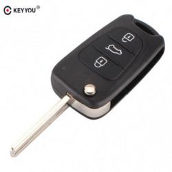 Keyyou Folde Skal Nøgle Til Hyundai I30 Ix35 Flip Folde Fjern Nøgle Sag Blank Dække Over 3 Knapper