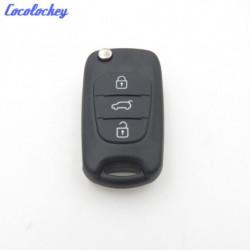 Cocolockey Folde Flip Fjern Nøgle Skal Til Hyundai I30 Ix35 Kia K2 K5 3buttons Indgang Fob Auto Udskiftning Dele