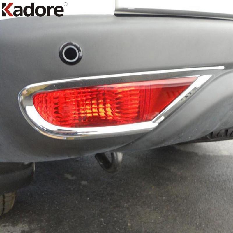 Til Mitsubishi Pajero Sport 2009 2010 2011 2012 2013 2014 Abs Chrome Bag Tåge Lys Lampe Dække Over Klistermærke