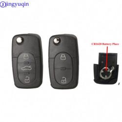 Jingyuqin 2 3 Knapper Flip Fjern Bil Nøgle Skal Til Audi A2 A3 A4 A6 A8 Tt Fob Sag Dække Over Cr1620 Batteri