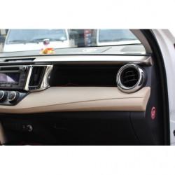 Til Toyota Rav4 2013 2014 2015 Abs Chrome Instrumentbræt Foran Luft Aftræk Outlet Dække Over Trimme Klistermærke