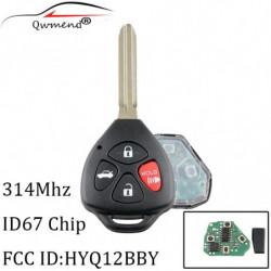 3 1buttons 314mhz Transponder 4d67 Chip Uncut Fjern Nøgle Fob Til Toyota Camry 20072010 Til Toyota Camry Hyq12bby