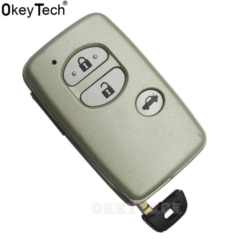 Okeytech Smart Fjern Nøgle Skal 3 Knap Udskiftning Skal Med Lille Uncut Indsæt Nøgle Til Toyota Avalon Camry