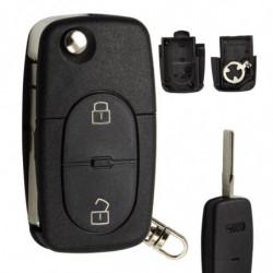 Okeytech 2 Knap Uncut Blank Klinge Fjern Bil Nøgle Skal Flip Folde Auto Dække Over Sag Fob Til Audi A2 A3 A4