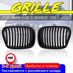 2stk Oem Stil Bil Foran Sort Bred Nyre Grille Grill Til Bmw E39 5 Serie 1997 1998 1999 2000 2001 2002 2003